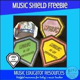 Music Is My Superpower Shield FREEBIE