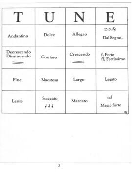 Music: Italian Terms