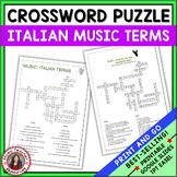 Music: Italian Terms Crossword Puzzle