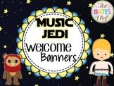 Music Jedi Banner Deco