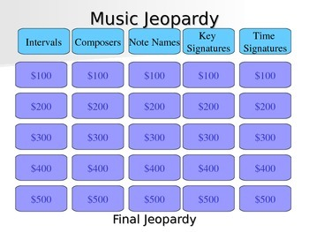 Music Jeopardy