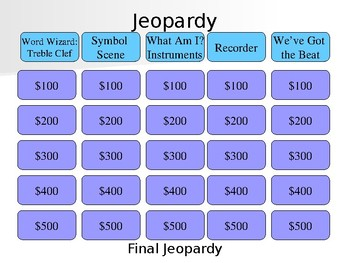 Music Jeopardy Worksheets & Teaching Resources | TpT