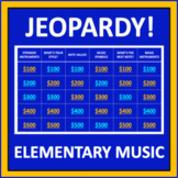 Music Jeopardy - an interactive game for elementary music