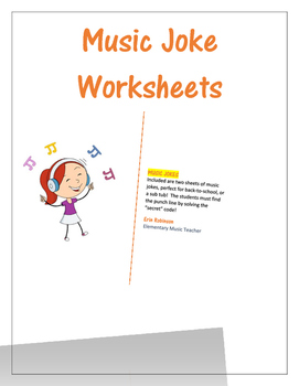 Music Joke Worksheet 1 and 2