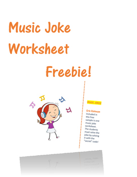 Music Joke Worksheet