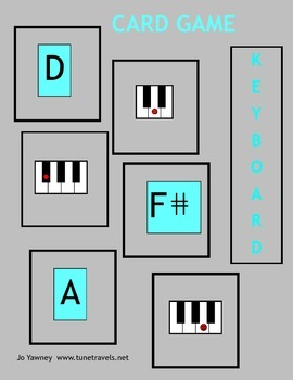 Music: Keyboard Card Game