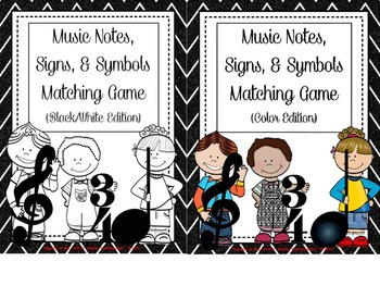 Music Kidlettes: Notes, Signs, & Symbols, Matching Game -