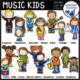 Music Kids Clip Art (15 Instruments)