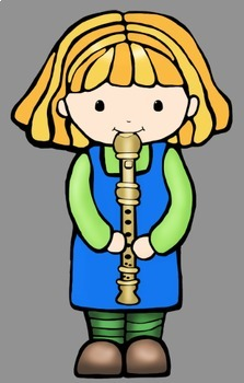 Music Kids Clip Art (15 Instruments)