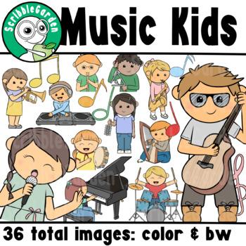 Music Kids ClipArt