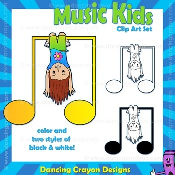 Music Kids: Music Note Clipart