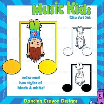 Music Kids: Music Note Clipart