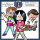 Music Kids-Percussion Clip Art set1. -Color and B&W-