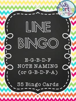 Music LINE Bingo (E-G-B-D-F or G-B-D-F-A)