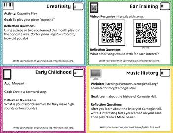 Music Lab Task Card Sample
