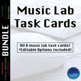 Music Lab Task Cards BUNDLE (Editable)
