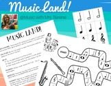 Music Land!  A Musical Adventure to Practice Musical Symbols