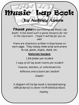 Music Lap Book (Organizer, Craft, Activity, Journal)