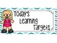 Music Learning Target Signs - Blue Chevron