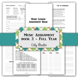 """Music Lesson Assignment Book 2 (5 1/2""""x 8 1/2 """")"""