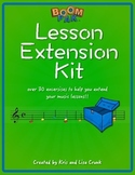 Music Lesson Extension Kit – 33 Exercises to Extend Your Lessons