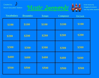 Music Lesson Plan!  Fun Jeopardy Game
