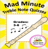 Recorder Music Lesson {Mad Minute Treble Clef Notes}