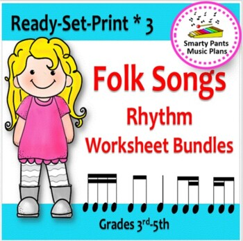 Folk Songs {Bundled #3  Worksheets & Assessments}