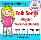 Folk Songs {Bundled #3  Worksheets & Assessments}
