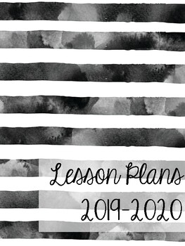 Music Lesson Plan Notebook - Solid Chevron