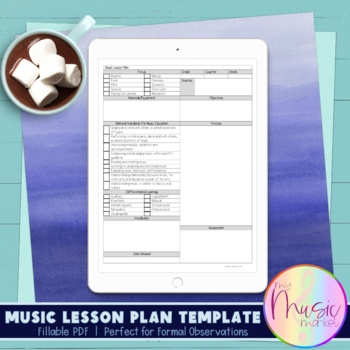 Music Lesson Plan Template By My Music Market Teachers Pay Teachers