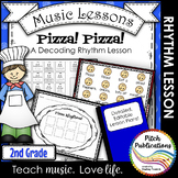 Music Composition Lesson Plan on Pizza Rhythms - Practice Decoding Rhythm