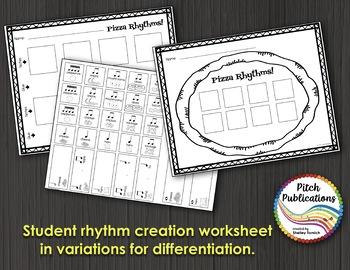 Music Composition Lesson Plan on Pizza Rhythms - Practice Decoding Rhythm
