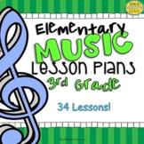 3rd Grade Music Lesson Plans (Set #1)