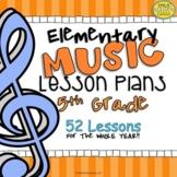 5th Grade Music Lesson Plans (Set #1)