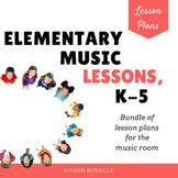 Music Lesson Plans Bundled Set {K-5}