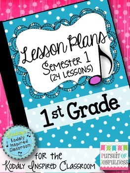 Elementary Music Lesson Plans - First Grade {24 Lessons}