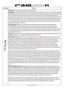 Elementary Music Lesson Plans-Set #2 (Grades K-5)