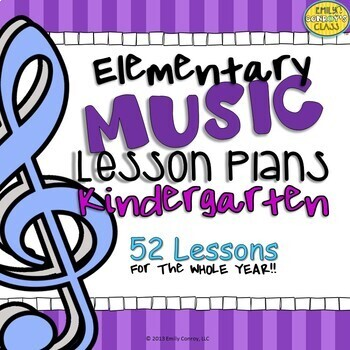 Kindergarten Music Lesson Plans (Set #1)