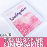 Elementary Music Lesson Plans - Kindergarten {36 Lessons}
