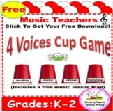 Music Lesson Plans - Kindergarten { Four Voices Lesson}
