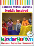Music Lesson Plans - Kindergarten {Lessons September-December.1}