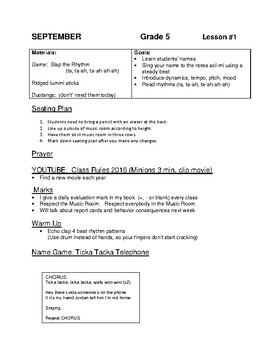 Music Lesson Plans - Vocal Entire Year!!!