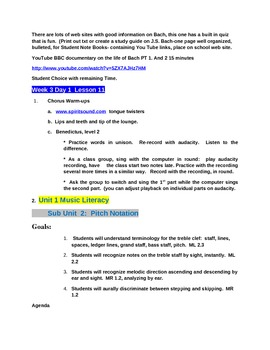 Music Lesson Plans for 7th Grade:  Complete Chorus Curriculum
