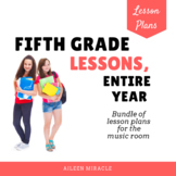 Music Lesson Plans for Fifth Grade, Entire Year {Growing Set}