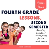 Music Lesson Plans for Fourth Grade, Second Semester {Growing Bundle}