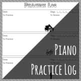 Music Lesson Practice Log