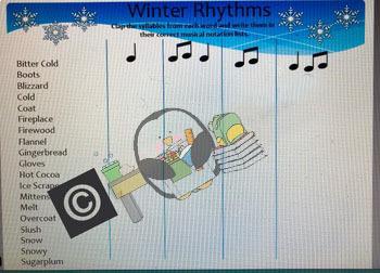 Music Rhythm & Syllables - Rhythmic Words - Teaching quarter and eighth notes