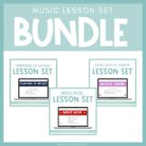 Music Lesson Set Bundle for Google Slides™ | Distance Learning