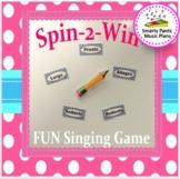 Singing Game  {Fun Assessment}